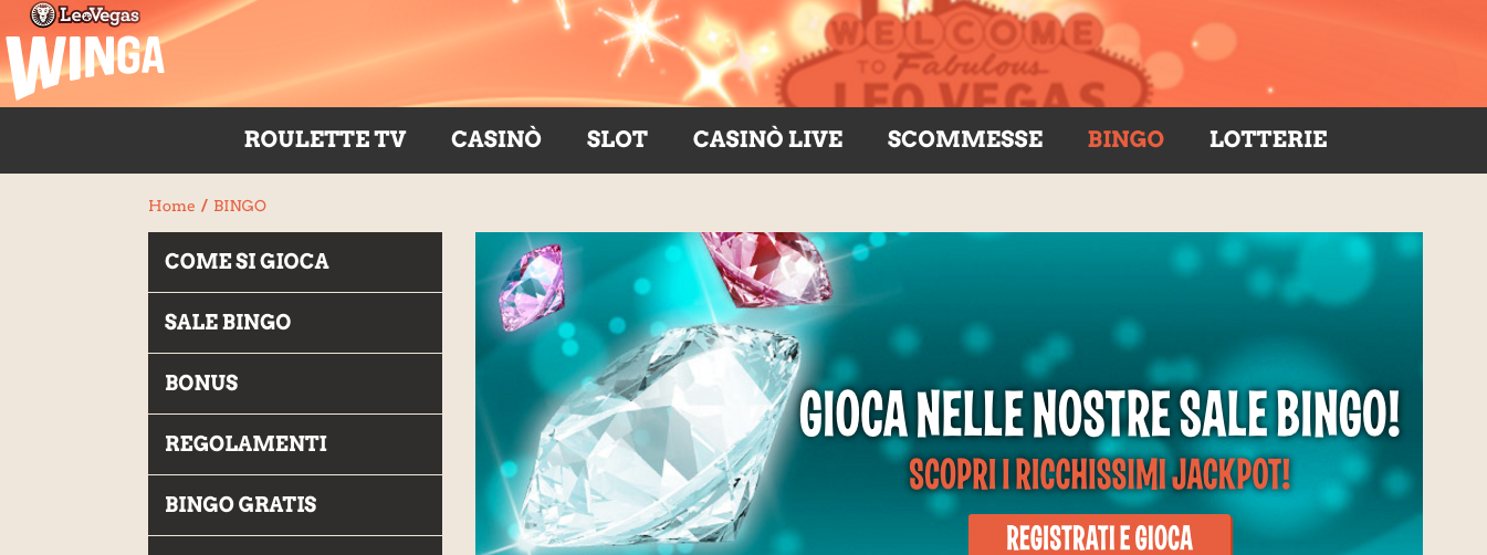 Winga casino solo per divertimento